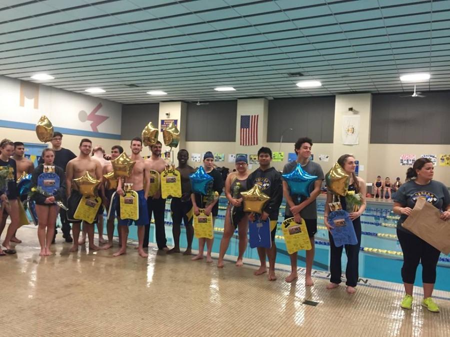 Swim Senior Night 2016