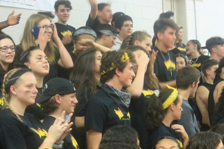 An excited crowd of juniors