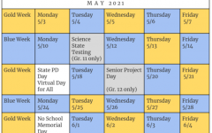 May Schedule/Juniors Back Full Time