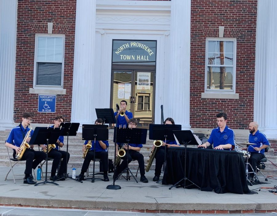 The NPHS Jazz Band Performs at the Village Festival in Centredale!